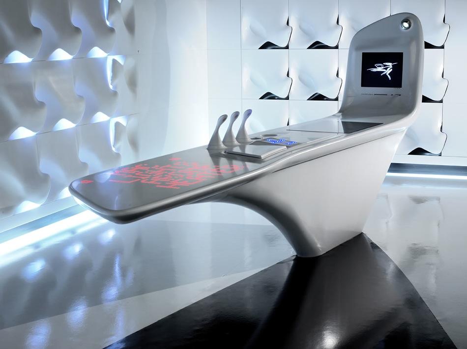 Zaha Hadid - Z-Island kitchen for Dupont Corian