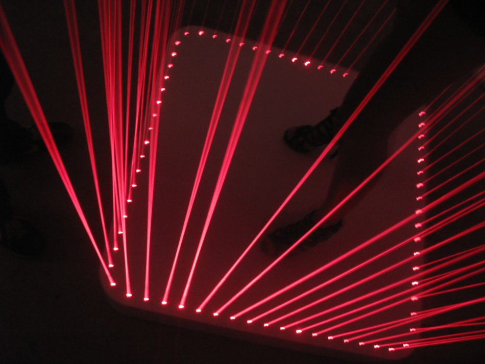 Disco Table featuring laser cage