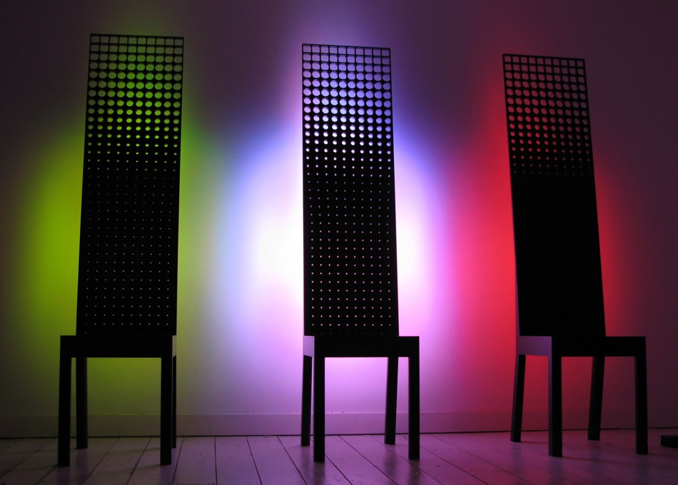 By Royal Appointment - group of 3 LED Corian chairs