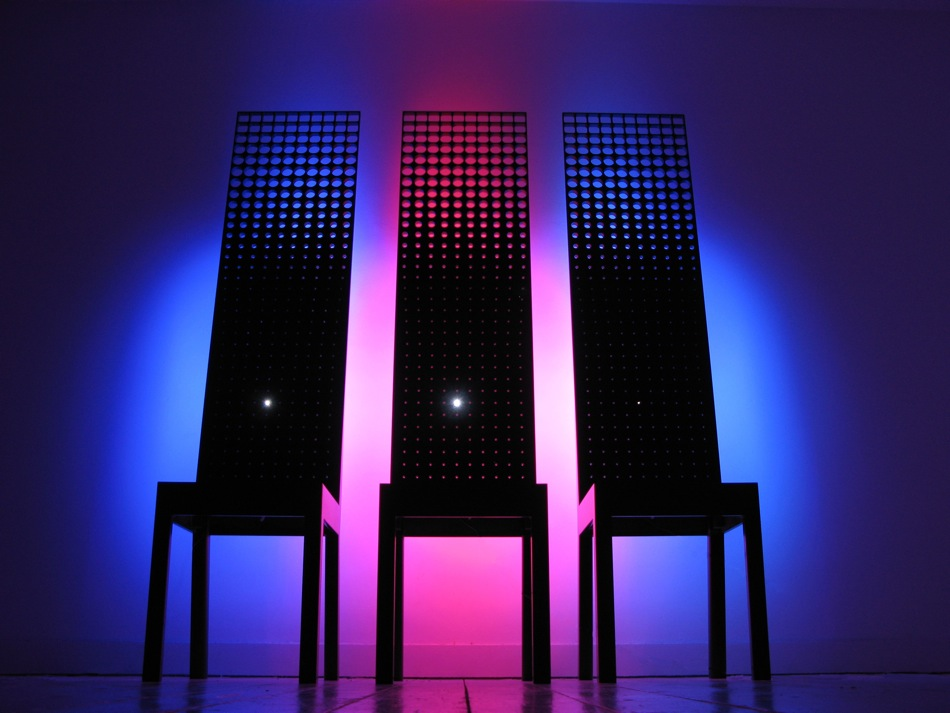 By Royal Appointment - interactive Corian chairs