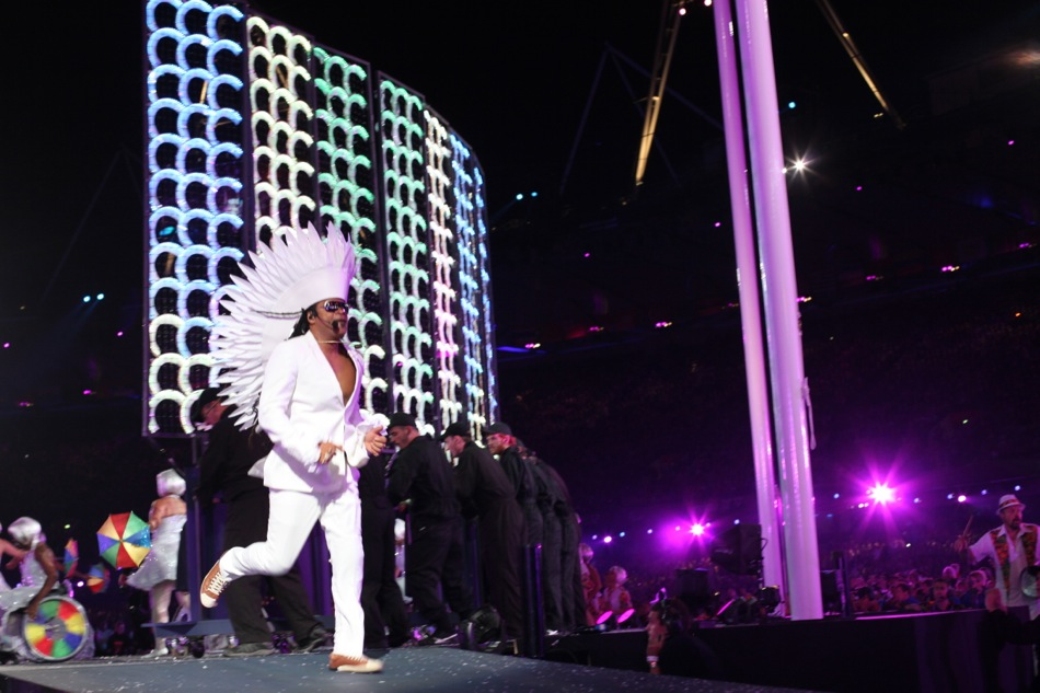 Carlinhos Brown during the Paralympic Closing Ceremony