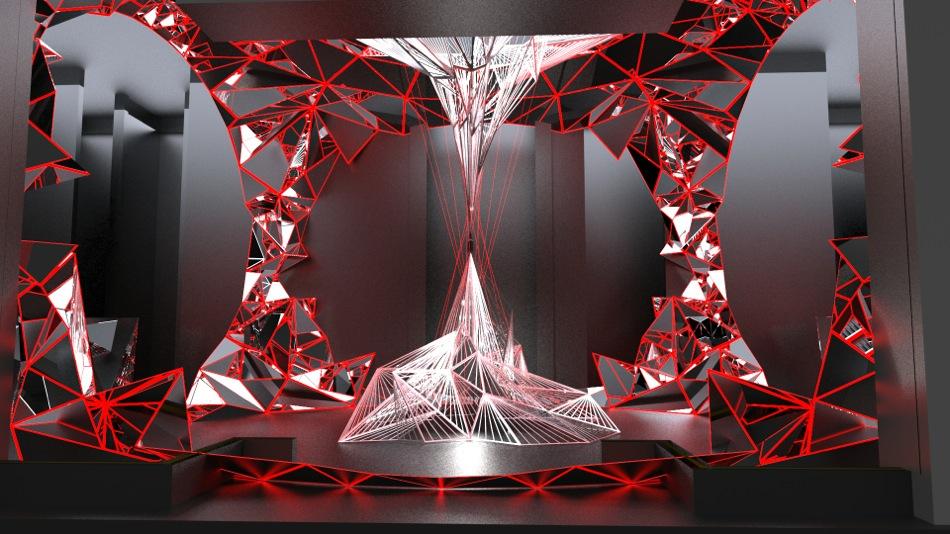 Becks Sapphire sculpture - rendering